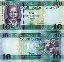 SOUTH SUDAN 10 Pounds Banknote World Paper Money UNC Currency Pick p-New 2015
