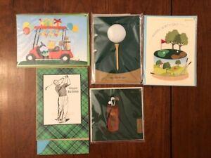 Birthday Cards - Golfer Theme - Papyrus - Lot (7) - New