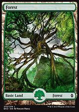 MTG FOREST #273 FOIL EXC - FORESTA FULL ART 4 - BFZ - MAGIC