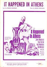 IT HAPPENED IN ATHENS Sheet Music Jayne Mansfield Bob Mathias