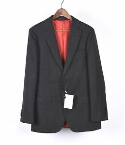 New Suit Supply Sienna Single Breasted Men Grey Blazer Jacket Set Size 48/38