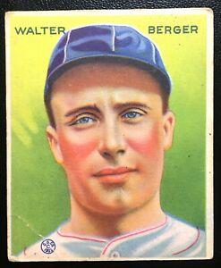 ORIGINAL 1933 Goudey #98 Walter Berger Braves
