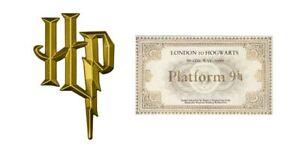 Harry Potter Logo and Hogwart Ticket Edible Icing Cake Decor