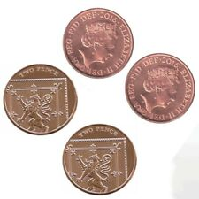 More details for x2 double sided 2p coin tails & heads gypsy coin trick double headed tails *uk*
