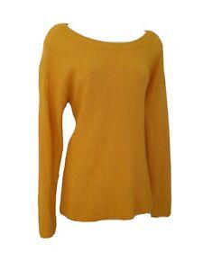 Women's Mustard Yellow Jumper Medium Long Sleeved Thin Soft Lightweight GAP