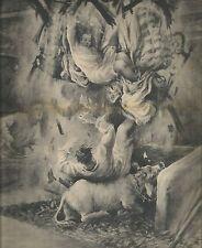 K0482 Soffitto crolla in casa rurale a Cuneo e tre fratelli cadono_Stampa antica