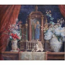BALTUS, Georges-Marie (1874-1967) Oil on Canvas Still Life Religious Painting