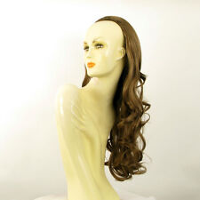 DT Half wig HairPiece extensions long wavy light brown golden 25.6  REF :15/12