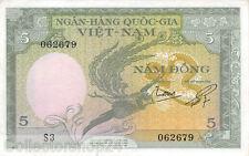 Vietnam South 5 Dong 1955 Pr/Vf  pn 2a