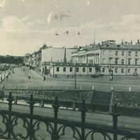 Helsinki Finland Presidential Palace Street View Vintage 30s Posted