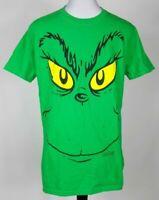 Dr Seuss Mens T-Shirt Green Yellow Short Sleeve Grinch Christmas Holiday Size XL