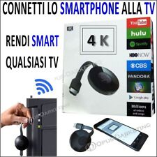 Chiavetta 4K TV STREAMING MIRRORING WIRELESS WIFI PER CELLULARE ANDROID IOS