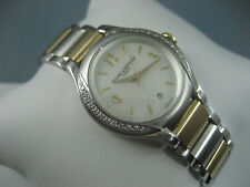 "BAUME MERCIER ILEA SS/18K DIAMONDS .37CTW WATCH 8775 ""MINT"""
