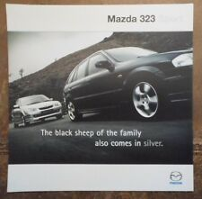 MAZDA 323 SPORT orig 2000 UK Mkt Sales Brochure