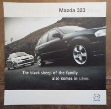 MAZDA 323 SPORT orig 2000 UK Mkt Sales Brochure