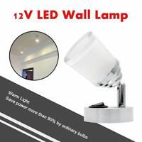 12V LED Spot Reading White Light Switch Camper Van Caravan Boat Motorhome Lamps