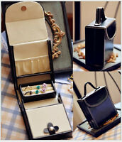 Portable Travel Jewelry Holder Jewelry Box Case Ring Earring Necklace Holder