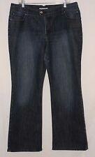 Chico's Platinum Women's Jeans Size 3 Reg Dark Wash Embroidery Pocket Flare Leg