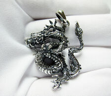SOLID .925 STERLING SILVER DRAGON PENDANT