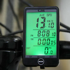 Wired Bike Bicycle Computer Odometer Speedometer Touch Button LCD Backlit FU0
