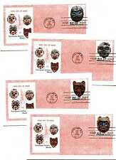 1834-37 Indian Masks Colonial set of 4  FDCs