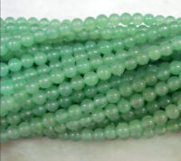 new Natural 6MM Greed Emerald Round Loose Bead Gem 15""