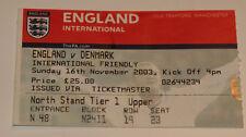 OLD TICKET * England - Denmark in Manchester