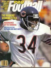 1984 Street & Smith's Pro Football Yearbook magazine Walter Payton Chicago Bears
