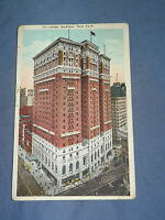 VINTAGE 1924 HOTEL McALPIN    NEW YORK   POSTCARD