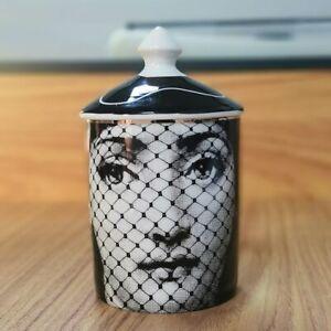 FORNASETTI DIY Handmade Retro Lina Face Jar Candale Holder Ceramic Jewelry Box💘