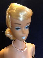 Vintage 60's, Swirl Platinum Ponytail Barbie, Rare White Lips, Minty, Original