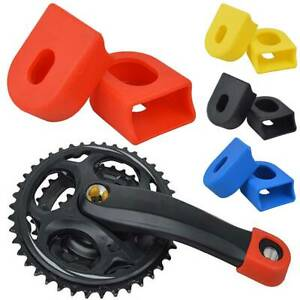 1 Pair of Bicycle Silicon Crank Arm Protector Case Cover Cap Crankset Cycle MTB
