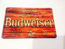 Budweiser bière usa man cave bar pub taverne wall decor vintage signe étain plaque