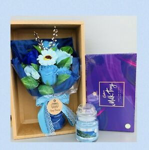 LADIES CANDLE PAMPER HAMPER GIFT BOX SET FOR HER BIRTHDAY CHRISTMAS FRIEND WIFE