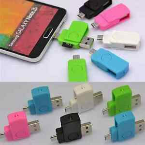 Micro USB 2.0 OTG Adapter+Micro SD TF Memory Card Reader Fr Android Cellphone AU