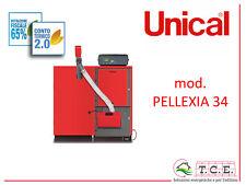 Caldaia a pellet UNICAL mod. PELLEXIA 34 - pellet boiler - potenza 31,4 kW