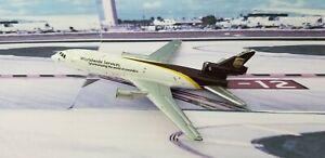 2000 Matchbox McDonnell Douglas SB13 DC-10 UNITED PARCEL UPS Airplane Jet Silver