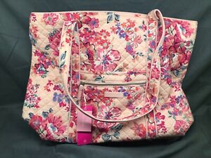 Vera Bradley Iconic Vera Tote Pretty Posies Pink NEW WITH TAGS!