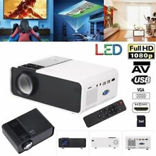 W10 Portable Mini Projector 1080P Home Theater Cinema Ratio HD/AV/VGA USB L0S2