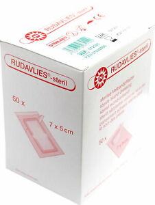 Noba Rudavlies-steril Wundpflaster Verbandpflaster 50 Stück (Größe: 7 x 5 cm)