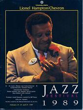 1989 Lionel Hampton Jazz Festival Program: University of Idaho Moscow, Idaho