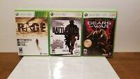 Lot Of 3 Xbox 360 Games: • Battlefield Bad Company 2 • Rage Anarchy Edition •...
