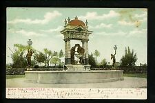 Duke Estate, Somerville, New Jersey NJ Vintage postcard Park fountain 1907