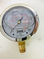 "NEW!! WINTERS PRESSURE GAUGE, 2-1/2"", 0 TO 1000 PSI, PFQ809LF"
