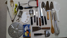 Set of 23 Kitchen Utensils-Mixed Cooking-Serving-Baking Used Good