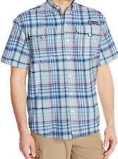 Columbia Men's Super Bahama Shorts Sleeve Shirt, Styler Multi Check, Medium
