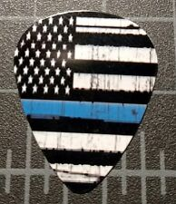 POLICEMAN THIN BLUE LINE - FLAG  CUSTOM GUITAR PICK