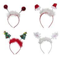 Festive Motif Deeley Bopper Girls Alice Hair Band Headband Christmas Novelty