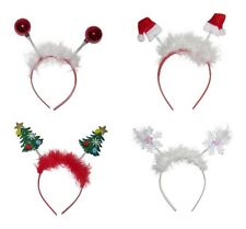 Festive Motif Deeley Bopper Girls Alice Hair Band Headband Christmas Novelty