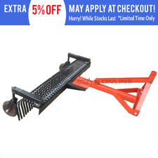 Landscape Stick Rake 7 FT With Wheels Kit Tow Behind Tractor 3pl -